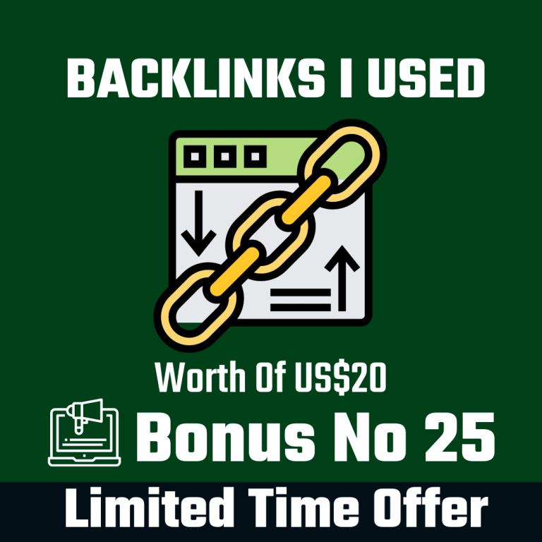 Backlinks I Used