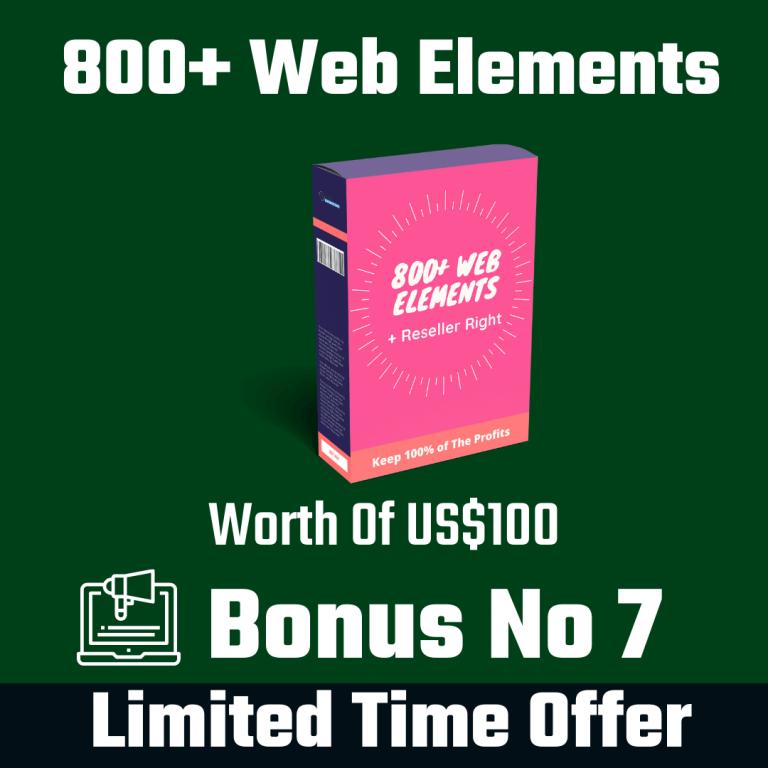 800+ Web Elements