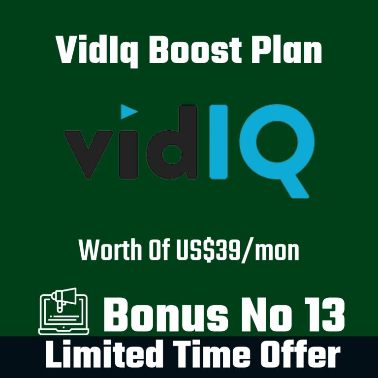 vidIQ Boost Plan