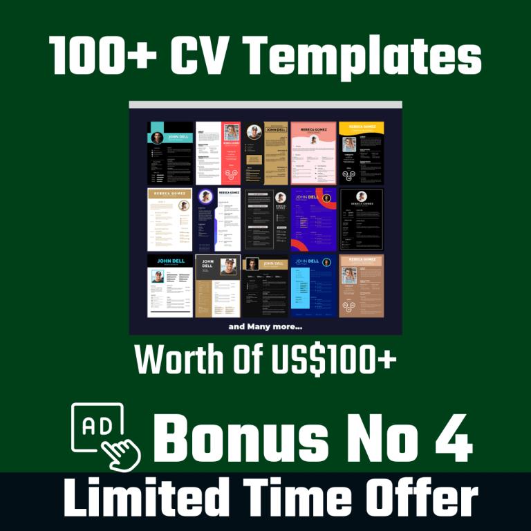 100+ CV Templates