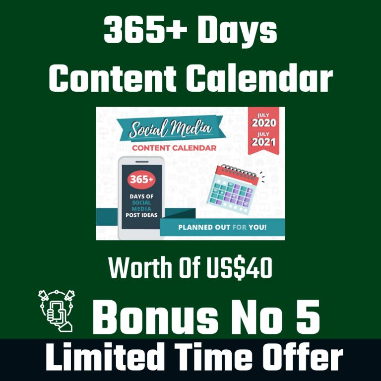 365+ Days Content Calendar