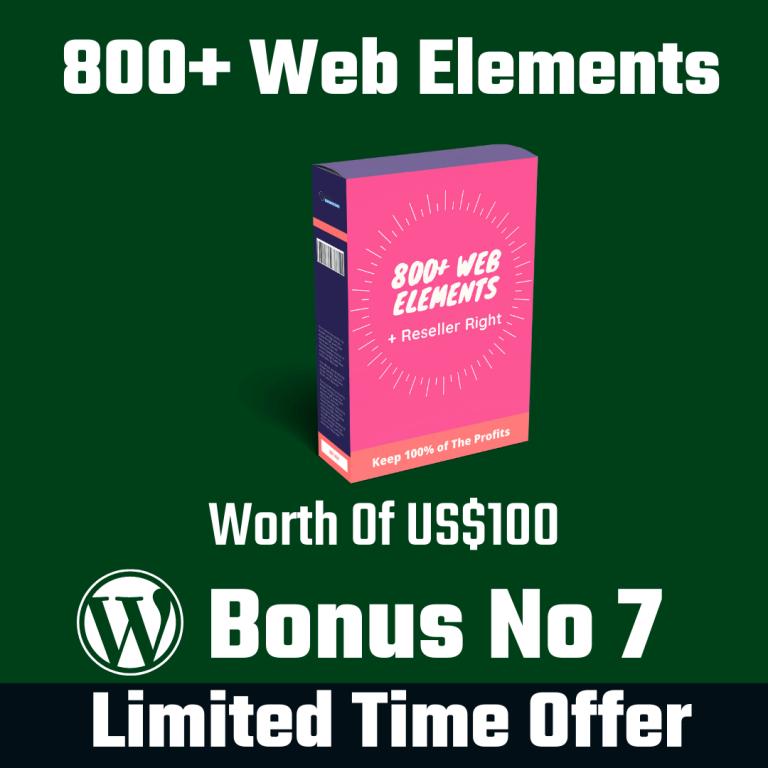 800+ Web Element