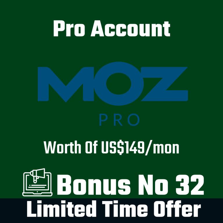 Moz Pro Account